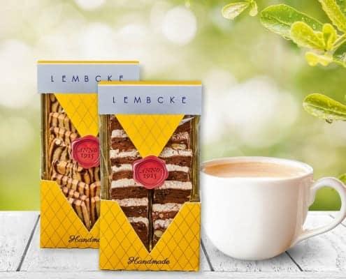 Lembcke_Teaser, Sortiment Tee+Kaffeegebaecke